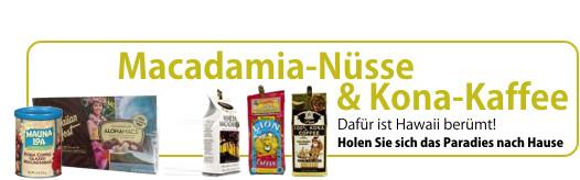Macadamia Nüsse und Kona-Kaffee