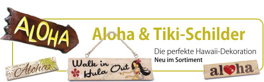 Aloha Tiki Schilder