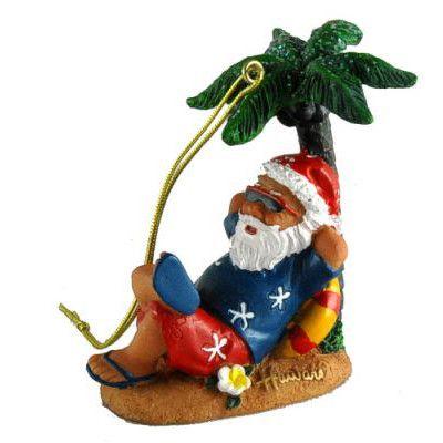 hawaii weihnachtsschmuck santa unter palme the hawaii. Black Bedroom Furniture Sets. Home Design Ideas