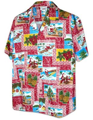 original hawaii hemd hawaiianische weihnachten the. Black Bedroom Furniture Sets. Home Design Ideas