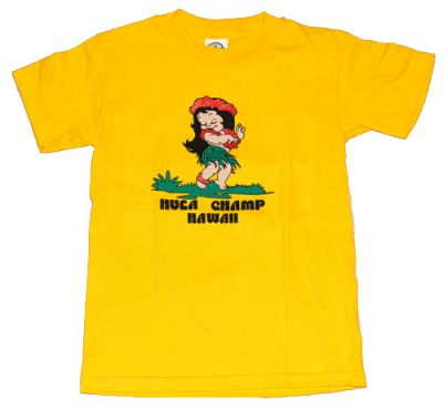 Hawaii t shirt hula champ gelb the hawaii shop for Hawaii souvenir t shirts