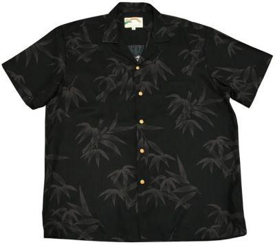hawaii hemd bamboo schwarz the hawaii shop souvenirs aloha shirts und mehr direkt aus. Black Bedroom Furniture Sets. Home Design Ideas